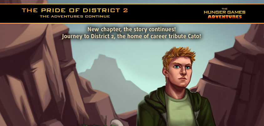 Cato and District 2 come to The Hunger Games Adventures